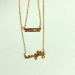 Naughty or Nice Gold Mood Necklace